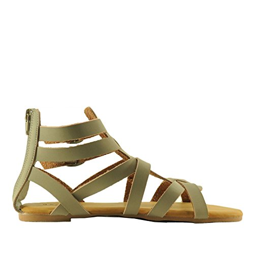 Sandal 99S Taupe Strappy Womens Dino Light Bamboo Toe Open Gladiator 0A57W6qx