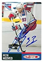 Autograph Warehouse 68691 Petr Nedved Autographed Hockey Card New York Rangers 2003 Topps Total No. 205