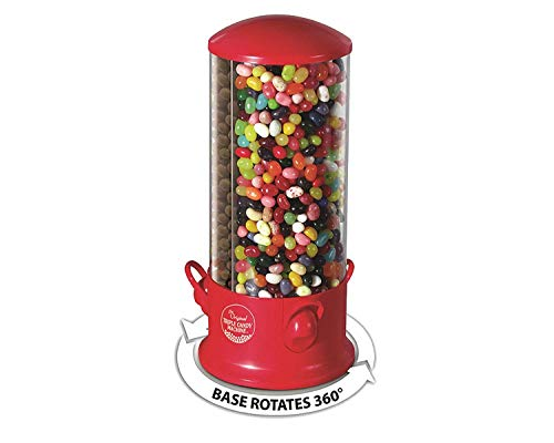 - Triple Compartment Candy Machine | Cool Countertop or Desk Candy Dispenser for Kids and Adults | Offer 3 Different Candy Snacks | Unique 360 Degree Spin | Classic Red