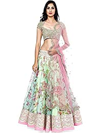 Indian Clothing Store Florence Women's Lehenga Choli (LG017_Cream_Xx-Large)