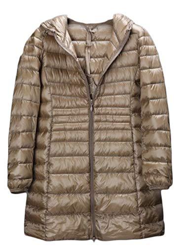 Donne Cappotto Delle Piumino Incappucciato Gocgt Puffer Packable 3 Inverno Lungo p581qqx