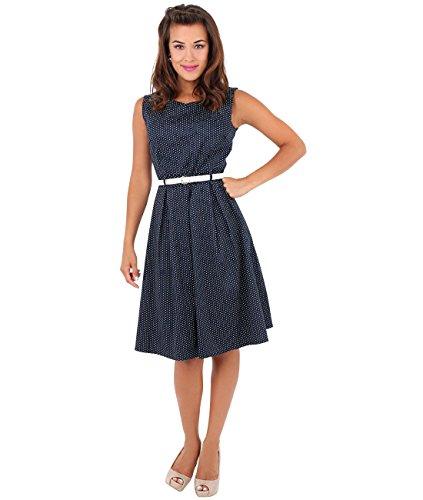 Azul Up Elegante Vestido Mujer Vintage Vuelo Pin 7045 Marino KRISP Corto Casual Hgw7qF