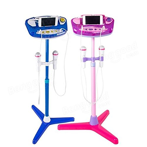 Adjustable Stand With 2 Microphones Karaoke Music Toys for Kids - Musical Instruments Pro Audio Equipment - (Pink) - 1 x Stand Sets, 1 x Control Panel, 2 x Microphones by Unknown (Image #2)