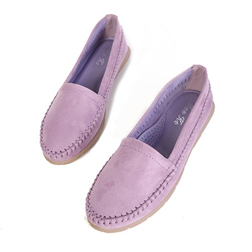 Purple barca Smilun piatto camoscio soft mocassini Lady mocassino ultra scarpe qxB41