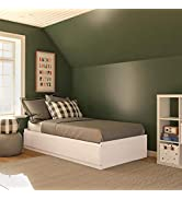 Ameriwood Home Twin Mates, Ivory Oak Bed