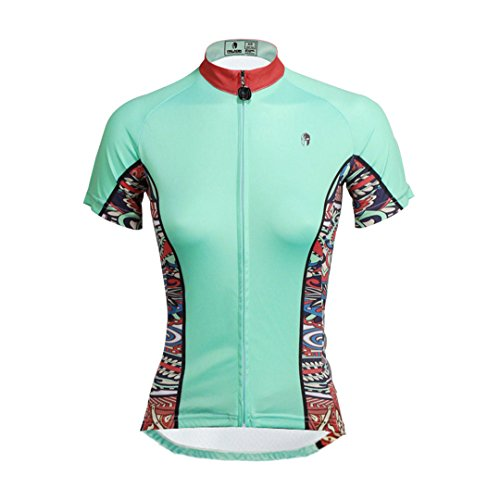 Bike Short Moisture Shirt Women's Sleeve Blue Mountain Quick Outdoors Wicking Breathable Sports Dry Cycling Jersey Clothing Jacket Top Cyan Multicolore A1dZfFqwd