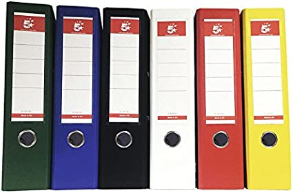 5 Star 928938 - Pack de 10 archivadores, 80 hojas, A4, multicolor ...