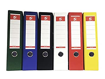 5 Star 928938 - Pack de 10 archivadores, 80 hojas, A4, multicolor: Amazon.es: Oficina y papelería