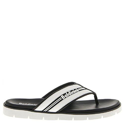 リンク納税者反響する6008 Baldinini Italian Designer White Leather Sandals [並行輸入品]
