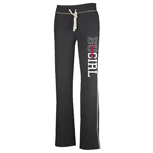 NCAA Boston University Terriers W Lounger Pant, Charcoal Heather, X-Large