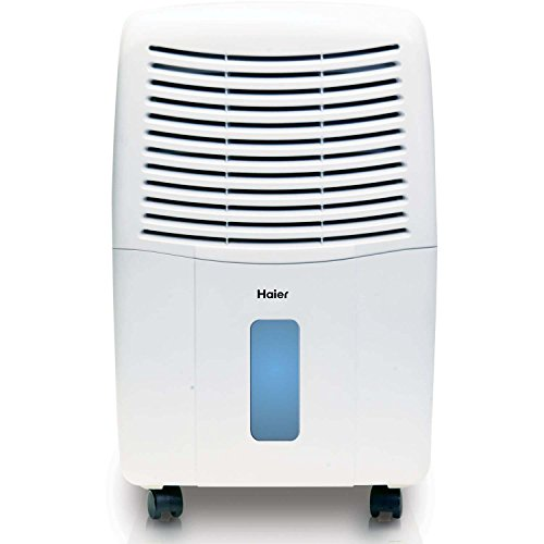 Haier 2 Speed Portable Electronic Air Dehumidifier with Drain, 45 Pint | DE45EM