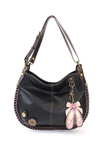 or CHALA Black Ballerina Black Soft Crossbody Large Casual Crossbody Shoulder Handbag Style Bag Hobo Zr1RZzq