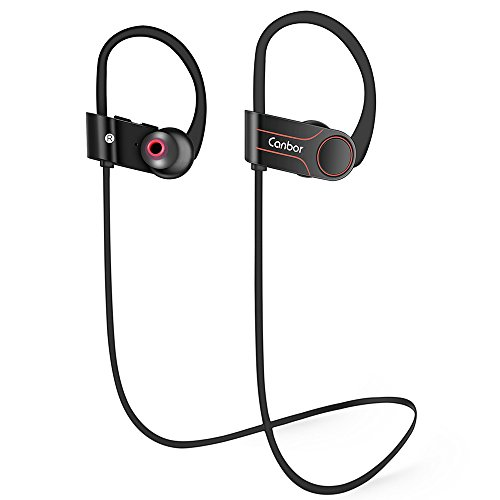 Canbor Bluetooth Headphones Wireless Earbuds with Mic 4.1 Sport Stereo Headset, IPX7 Sweatproof Earphones for Running Workout Gym