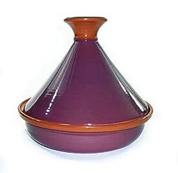 Le Souk Ceramique CT-PUR-30 Cookable Tagine, 12-Inch, Purple