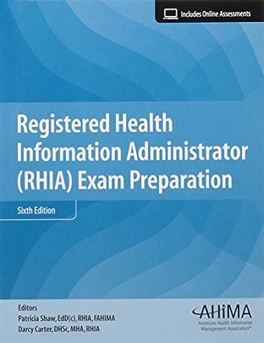 registered health information administrator rhia exam prep rh amazon com Chakra Aura Color Meaning Chart Chakra Aura Color Meaning Chart