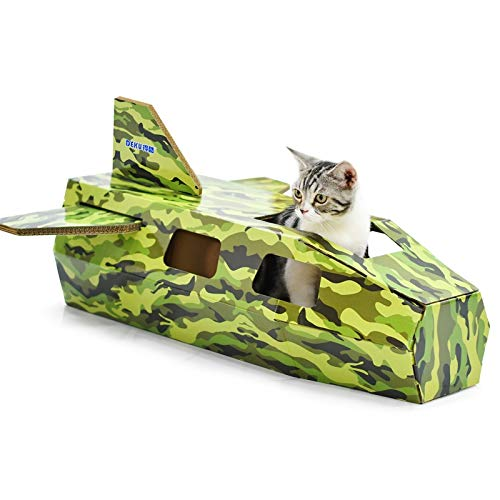 Cat Bed or Sofa hyx CP-253 Creative Fighter Cat House Cat Litter Corrugated Paper Cat Scratch Board Grinding Claw Toy