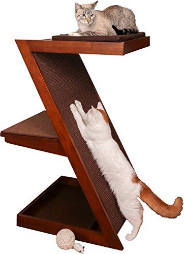 The Refined Feline ZENCAT-MA Zen Cat Scratcher Post, Mahogany