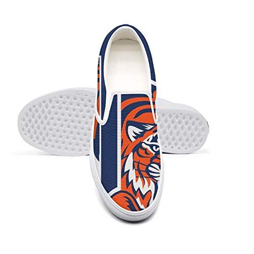(Detroit Tigers Bennett Park Michigan Avenue Casual Loafers Womens Designer Skateboard Canvas Walking)