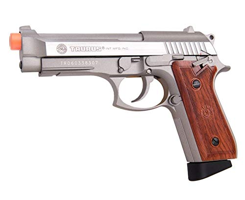 Palco Sports 210527 Taurus Pt92 Co2 Full Metal Blowback Pistol Semi/Full Auto, Silver