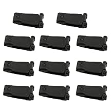 10pcs Black Molle Webbing Connecting Clips Strap Buckle Backpack Bag Clip