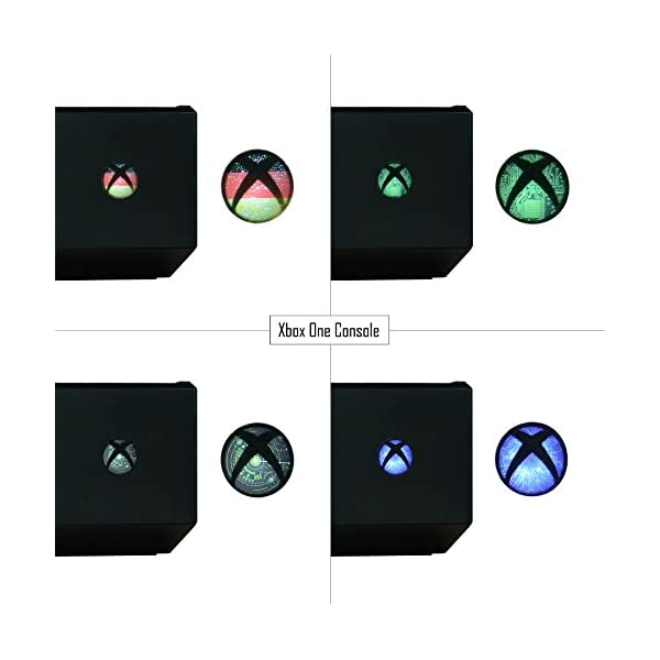 eXtremeRate 60 pcs Custom Home Button Power Switch Stickers Skin Cover for Xbox Series X/Xbox Series S/Xbox One/One X… 3