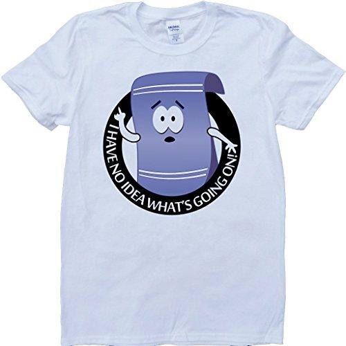 Towelie South Park Funny White, Custom Made T-Shirt (X-Large) (South Park Towelie)