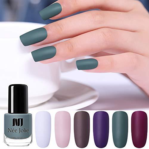 (NEE JOLIE 3.5ml Dull Matte Nail Polish 6 Colors)