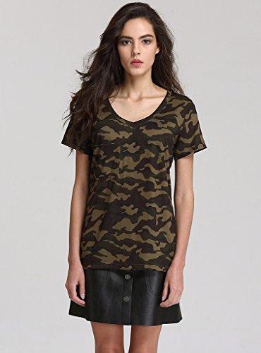 Escalier Mujer Camiseta Camuflaje Militar Estilo Corto Manga Camisetas y tops: Amazon.es: Ropa y accesorios