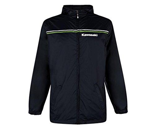 KAWASAKI Sports Regenjacke ! schwarz grün weiß