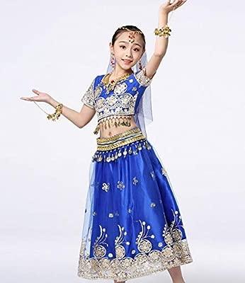ZYLL Trajes de Danza India para niños Disfraces de Danza del ...