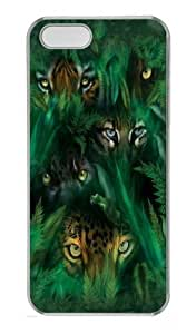 Jungle Eyes Custom PC Case Cover for iPhone 5 and iPhone 5s Transparent