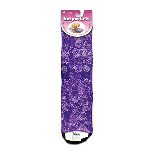 Heat Pack- 3Pockets Hot & Cold Pack - Hot Pockets for Stress & Tension Relief - Microwaveable & Washable (Purple Flowers)