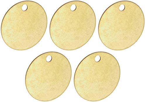 Brady Blank Valve Tags - Round Brass Tags, 1-1/2'' Diameter, B-907 (Pack of 25) - 23210 (Вundlе оf Fіvе) by Brady (Image #4)