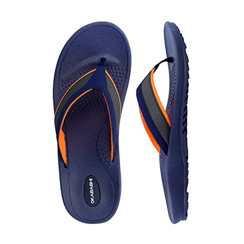 Flop Men's Orange Canvas Navy Shoes Flip Indigo Sandal Okabashi Classic Pqxnnf
