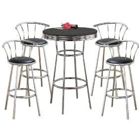 Amazon Com Man Cave Metal Bar Table Amp Pub Set With 4