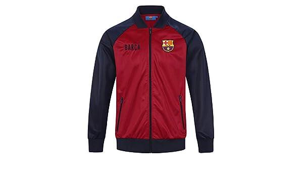 FCB FC Barcelona - Chaqueta de Entrenamiento Oficial - para Hombre - Estilo Retro - Rojo - 3XL