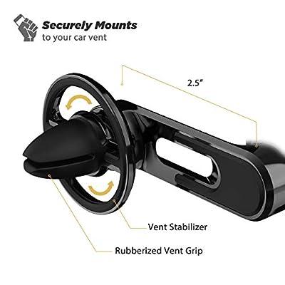 SCOSCHE MM2VP2SR-SP MagicMount Pro Universal Magnetic FreeFlow Vent Mount Holder for Vehicles, Black: Automotive