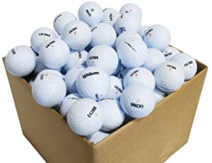 Second Chance Golfbälle 100  Wilson Ultra Qualitäts Lake, weiß, VAL-100-BOX-WILS