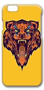 iphone 4s Case, Customized Slim Protective Hard 3D Case Cover for Apple iphone 4s- Big Mouth Tiger