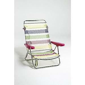Alco - Silla Cama Playa Aluminio Fibreline Rayas Colores 26 1-60726