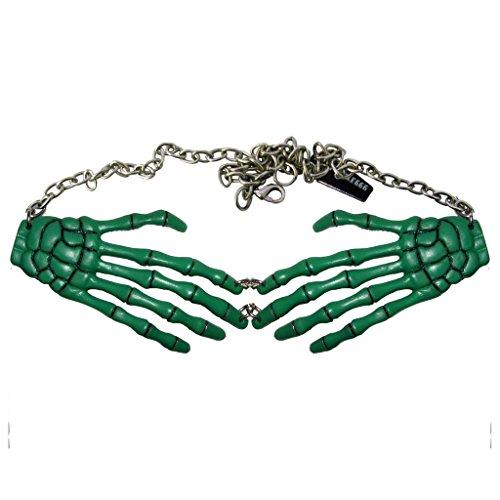 Kreepsville 666 Zombie Skeleton Bone Hand Horror Necklace