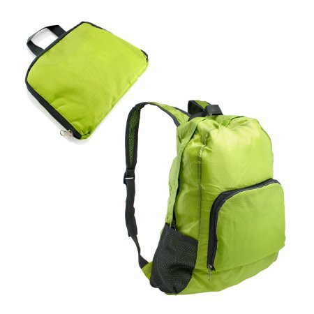 Foldable Lightweight Waterproof Travel Backpack Hiking Bag Outdoor Camping Sports Hiking Folding Pack / Green