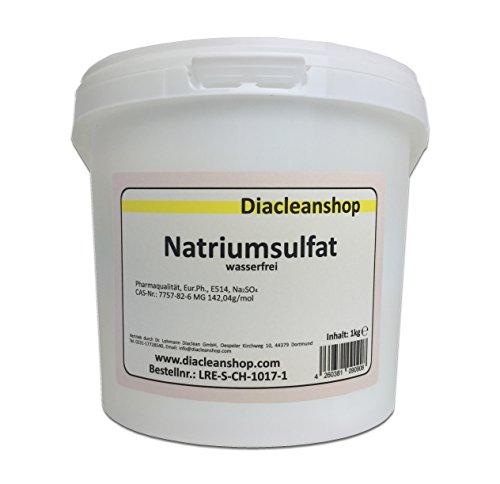 Glaubersalz 1kg Natriumsulfat E514 Na2SO4 wasserfrei Pharmaqualität