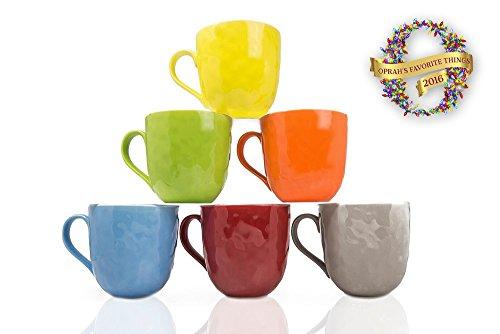 Bone China Mug Set - Yedi Houseware New Bone China Mugs (Set of 6)