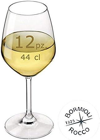 Bormioli Rocco–Juego 12Copas Vino Blanco Mod. Divino 44–Capacidad: 44Cl.
