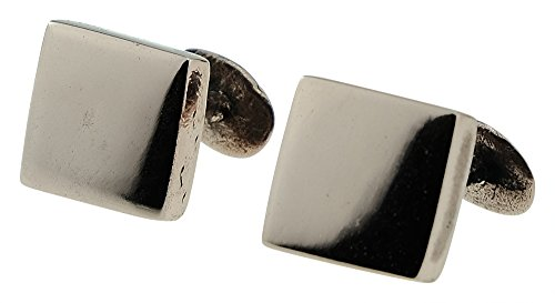 Polished-Solid-100-Bronze-Rustic-Square-8th-Anniversary-Mens-Cufflinks