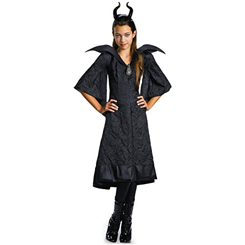 [Maleficent Christening Black Gown Classic Costume - Medium] (Maleficent Halloween Costumes For Girl)