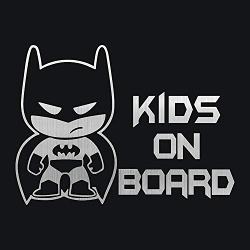 car Stickers: New 1913.9CM Batman Cartoon Sticker Baby ON Board Car Styling Decal Decorative Vinyl Car Stickers Black/Silver Dazzle Color