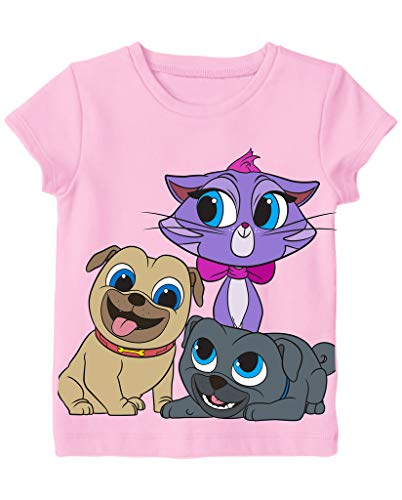 - Puppy Dog Pals Disney Little Girls' Toddler Group Shot Tee, Pink (4T)