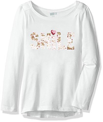 Crazy 8 Girls Big Long-Sleeve Graphic with High-Low Hem